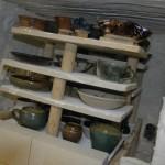 First view of pots after firing