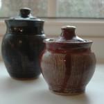Honey and jam pots