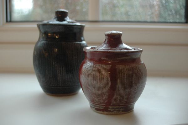 Honey and jam pots