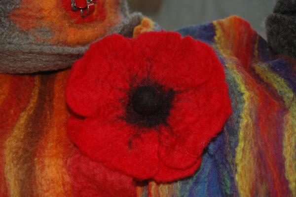 poppy corsage