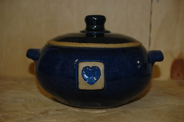 I love making casserole pots - gas reduction firing