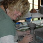Making goblets in France 2010