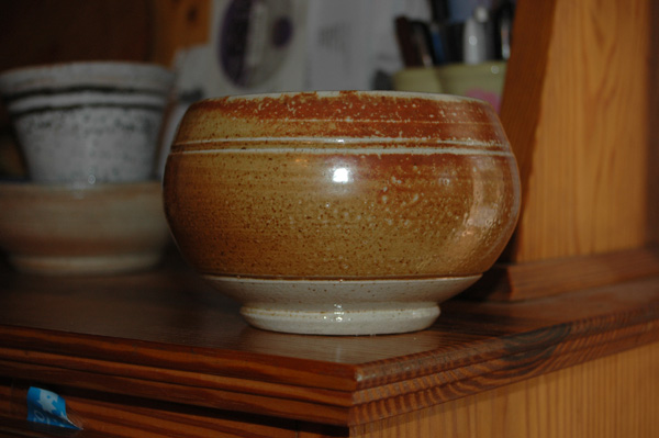 Soda fired bowl from potters camp