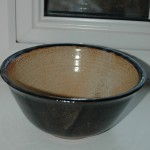 Bowl fired in gas reduction kiln