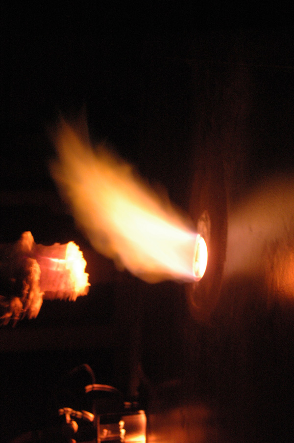 Gas reduction flame