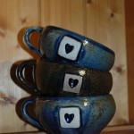 Set of mugs for customer order