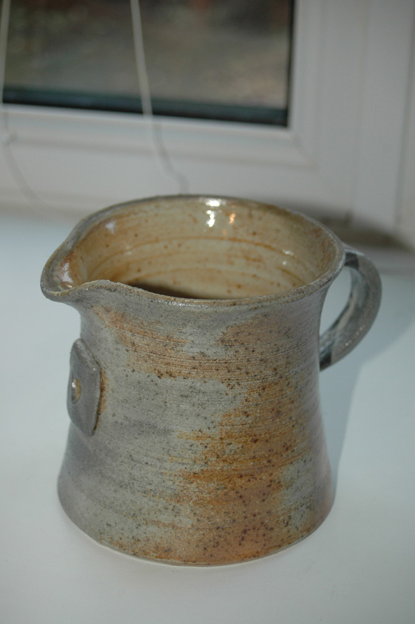Wood fired jug fired at potters camp