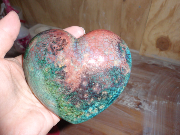 Raku heart - I really liked this one