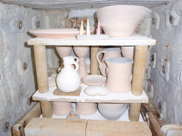 kiln full of pots