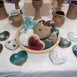 Raku and stoneware hearts